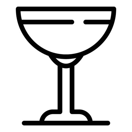 Saucer glass icon, outline style