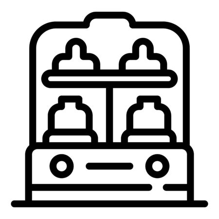 Bottle heater icon, outline style
