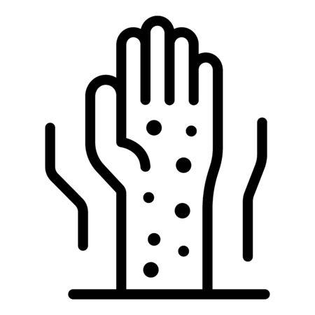 Chicken pox hand icon, outline style Vektorové ilustrace