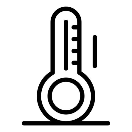 Body fever icon, outline style Illustration