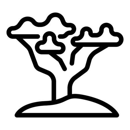 Safari tree icon, outline style 向量圖像