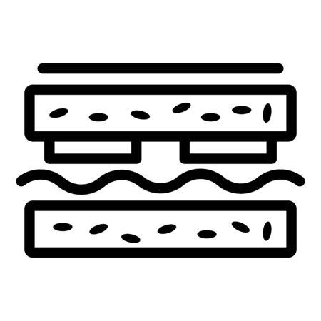 Sandwich lunch icon, outline style Vektorové ilustrace