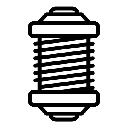 Fishing reel tool icon, outline style