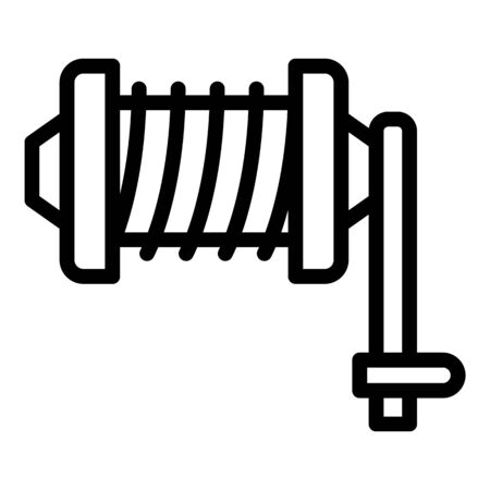 Fishing equipment icon, outline style Imagens - 145026799