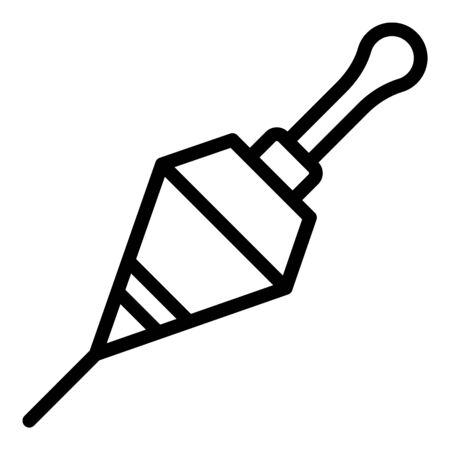 Fishing floating bobber icon, outline style