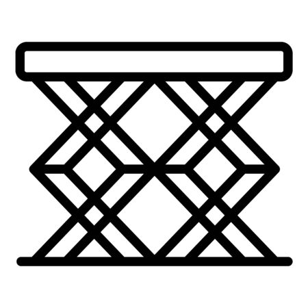 Folding table icon, outline style
