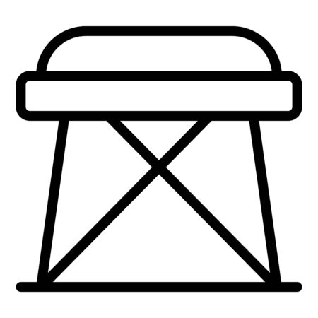 Folding stool icon, outline style