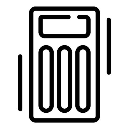 Orthopedic air bed icon, outline style