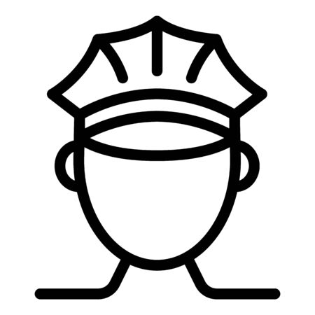 Policeman icon, outline style