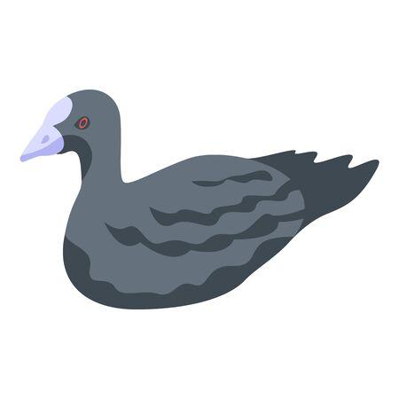 Black duck icon, isometric style