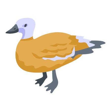 Duck bird icon, isometric style 版權商用圖片 - 145132215