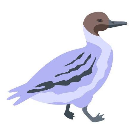 Little duck icon, isometric style