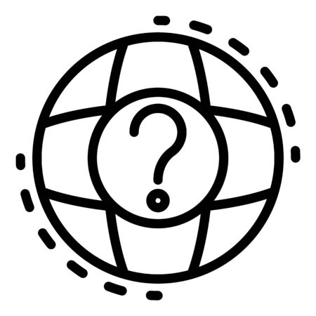 Global question headhunter icon, outline style Illustration