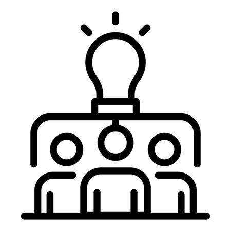 Headhunter icon, outline style Illustration