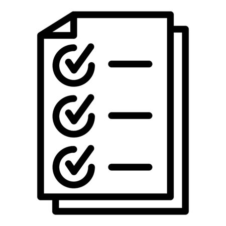 Headhunter checkmark list icon, outline style