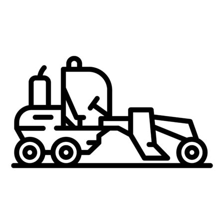 Heavy grader machine icon. Outline heavy grader machine vector icon for web design isolated on white background