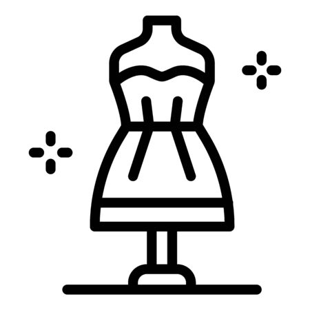 Stylist dress manequin icon, outline style