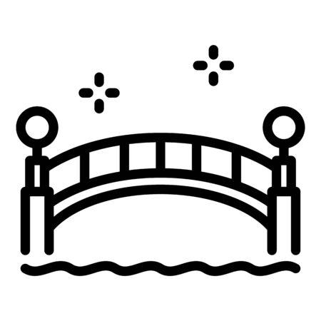 Farm wood bridge icon, outline style