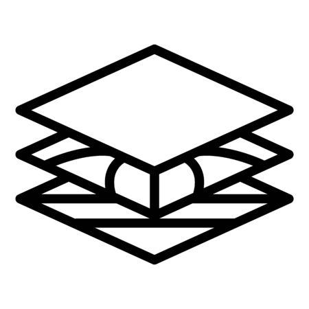 Landscape designer section icon. Outline landscape designer section vector icon for web design isolated on white background Ilustração