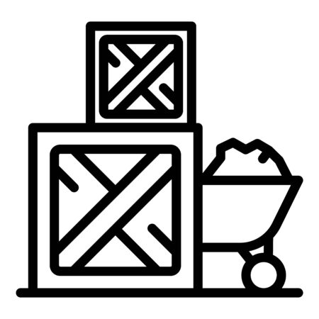 Farm producer box icon, outline style