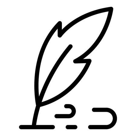 Pen writes icon, outline style