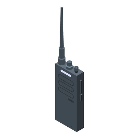 Walkie talkie icon. Isometric of walkie talkie vector icon for web design isolated on white background