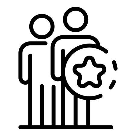 Entertainment teamwork icon. Outline entertainment teamwork vector icon for web design isolated on white background