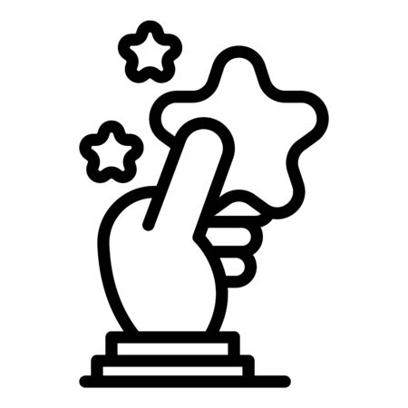 Take star hand icon, outline style