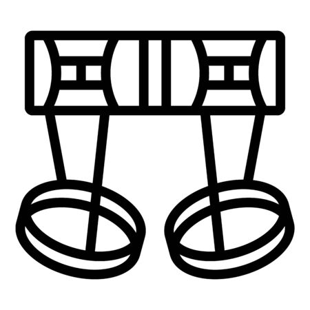 Climbing harness icon, outline style Vectores