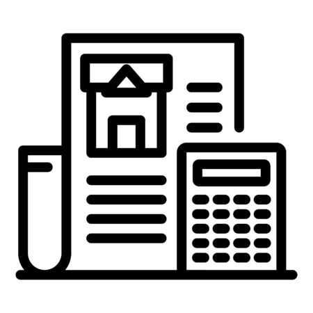 Construction estimate icon, outline style
