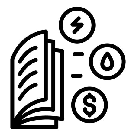 Utility bills icon, outline style