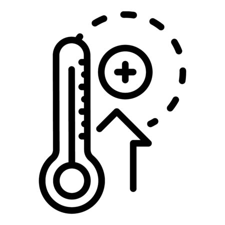 Outdoor thermometer icon. Outline outdoor thermometer vector icon for web design isolated on white background
