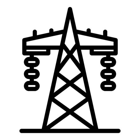 Transmission tower icon. Outline transmission tower vector icon for web design isolated on white background