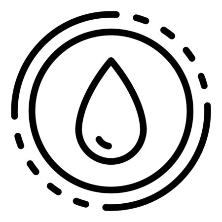 A drop in a circle icon, outline style
