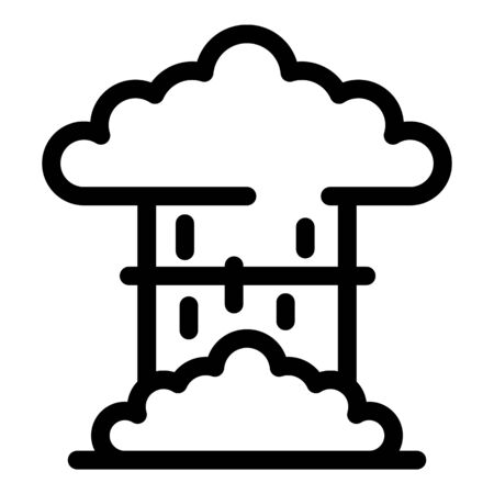 Nuclear explosion icon, outline style