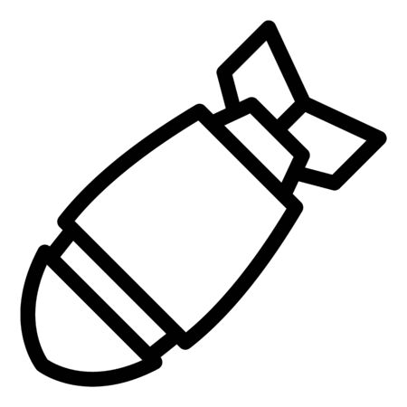 Submarine warhead icon, outline style