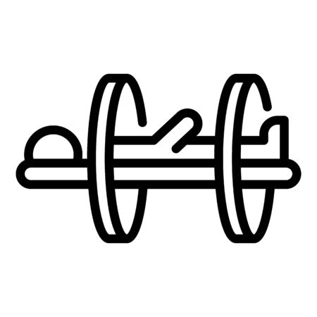 Health therapy equipment icon, outline style