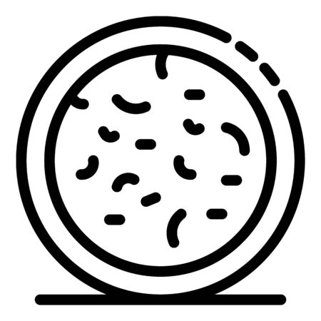 Bacteria in microscope icon. Outline bacteria in microscope vector icon for web design isolated on white background