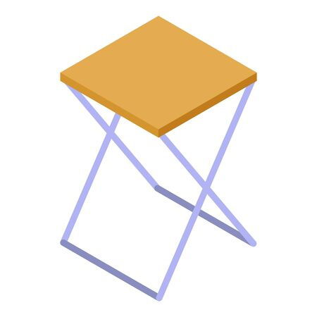 Fisherman chair icon, isometric style 矢量图像