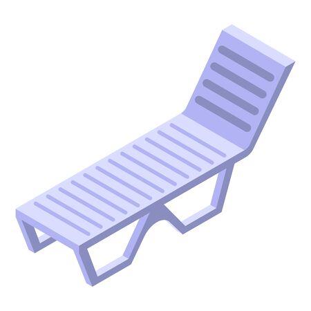 Beach chair icon, isometric style