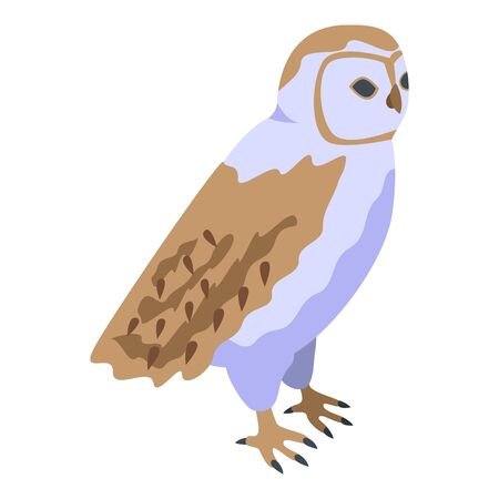 Owl icon. Isometric of owl vector icon for web design isolated on white background