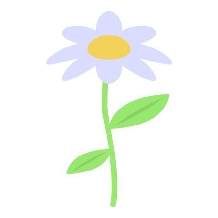 Chamomile flower icon, isometric style