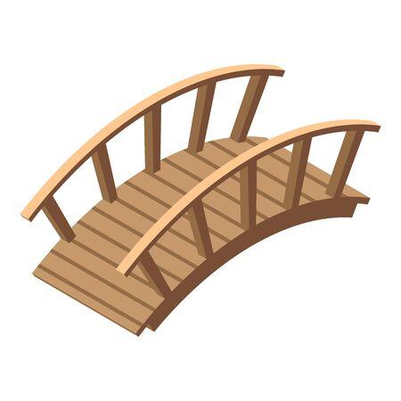 Garden bridge icon, isometric style Ilustración de vector