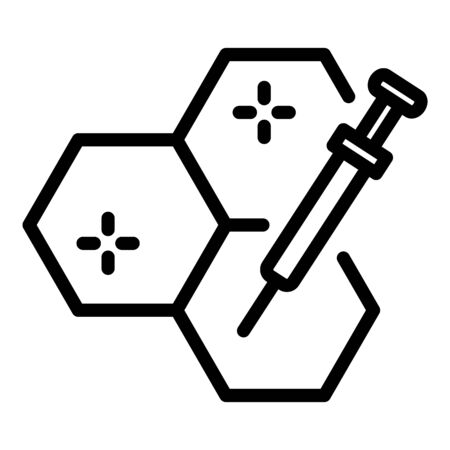 Injection cells icon, outline style