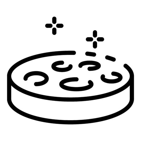 Petri dish icon, outline style