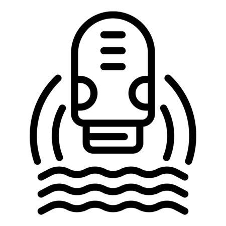 Electric epilator icon, outline style