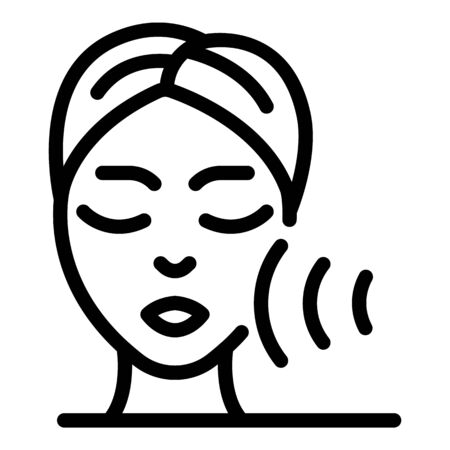Face peeling icon, outline style