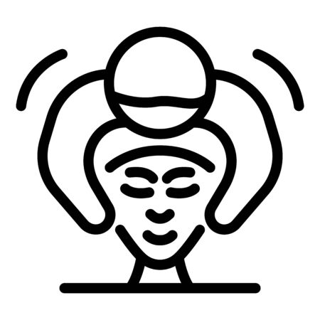 Facial massage icon. Outline facial massage vector icon for web design isolated on white background
