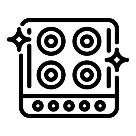 Clean kitchen stove icon, outline style