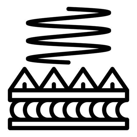 Soundproofing icon, outline style